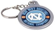 North Carolina Tar Heels 2017 Champions Metal 2-sided Spinner Oval Keychain University