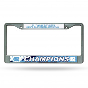 NCAA North Carolina Tar Heels 2017 Men's National Basketball Champions Chrome Plate Frame, Carolina Blue, White, 30cm by 15cm
