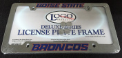 DELUXE Licence Plate Frame - BOISE STATE UNI - Die Cast Metal - BRONCOS
