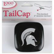 Michigan State Spartans Vinyl Hitch Receiver Cap - Black