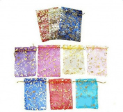 leisial 10pcs Bag Organza Bags of Sweet Wedding Jewellery Voile Gift Bag Bags of Threads Transparent Multicolor 7 * 9 cm