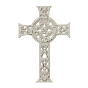 Stonebriar SB-6034A Accents of Faith 29cm Worn White Cast Iron Hanging Cross