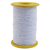 Ogrmar White Elastic Thread 547 Yard 0.5mm Thickness (1 Roll)