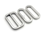 CRAFTMEmore 1SET Metal Purse Slider and Loops Set 1PC Slide Buckle with 2PCS Oval Rings Bag Accessories