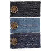 Home-X 3 Easy Fit Buttons for Jeans with Metal Button, Gold
