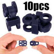 Shells 10PCS Strong Double Holes Spring Loaded Stop Sliding Cord Locks Fastener Slider Toggles End Cord Lock Stopper Buttons for Camping & Hiking, Shoelace Replacement, Sports, Backpacks