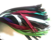 "YKK Invisible Zipper, Conceal.. "" Assortment of 30cm - 46cm Mixed Colours Brand Names- comb.5"