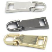 Bluemoona 6 PCS - #5 Zippers Puller Slider Repair Replace Kit Stop Fixer Repair Tab Instant Pants Moulded