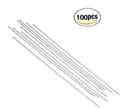 YEHAM 100 pack 5.5 Inch(14cm) Large Eye Needles ,Long Upholsterer Needles for Sewing Act Craft