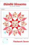 Patchwork Swoon Quilt Pattern, Jelly Roll 6.4cm Strip Friendly, 180cm Square Finished Size