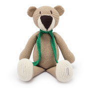 Organic Stuffed Soft Baby Toys - Hand Knitted Teddy Bear Toy With Organic Cotton