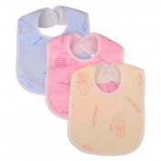 Zeltababy Bandana Dribble Bib Waterproof Backing Snap Button Velevt Fabric, 10 Packs