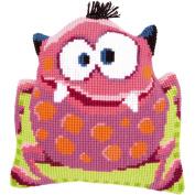 "Pink Monster I Shaped Cushion Cross Stitch Kit-41cm ""X16"""""