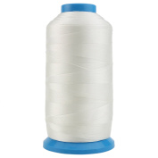 Ogrmar White Bonded Nylon Sewing Thread 1500 Yard Size T70 #69