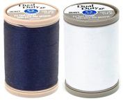 2-PACK - Coats & Clark - Dual Duty XP Heavy Weight Thread (Navy + White) 125yds Each