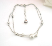 Fabal Frosted Double Chain Large Ball Anklet Bracelets Sandal Beach Foot Jewellery
