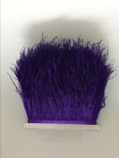 MELADY 2 Yards Fashion Dress Sewing Crafts Costumes Decoration Ostrich Feathers Trims Fringe With Satin Ribbon Tape