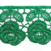 Sewing Accessories Green Venice Lace Trim Bridal Lace 3.6cm Inches Wide By The Yard