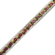 Ribbon Trim Handmade Sequin Sew Border Lace Traditional Tape By The 1 Yard