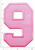 Pink Number 9 Patch Number eight counting logo Letter school symbol counting logo jacket T-Shirt patch iron on patch