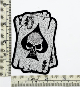 Ace of spades skull Rider Biker Motorcycle Patch Embroidered Iron on Hat Jacket Hoodie Backpack Ideal for Gift