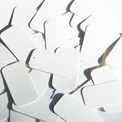 Rectangle Sequin 3.8cm White Matte Silk Frost Couture Paillettes