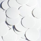 Round Sequin 3.8cm White Matte Silk Frost Couture Paillettes