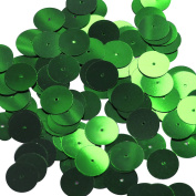 Round Sequin 15mm Kelly Green Metallic Couture Paillettes