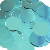 Round Sequin 3.8cm Aqua Turquoise Blue Metallic Couture Paillettes