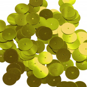 Round Sequin 15mm Yellow Metallic Couture Paillettes