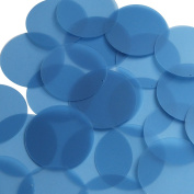Round Sequin 40mm Cornflower Blue Transparent Glossy and Matte Duo Two Sided Couture Paillettes