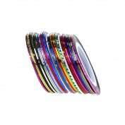 Qingsun 32 Colours Nail Art Rolls Striping Tape Nail Sticker Strips Tape Wire Art Tips Line