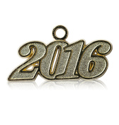 Year 2016 Gold Drop Date Signet for Graduation Tassel