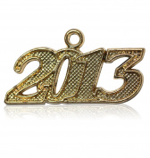 Year 2013 Gold Drop Date Signet for Graduation Tassel