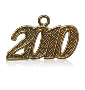 Year 2010 Gold Drop Date Signet for Graduation Tassel