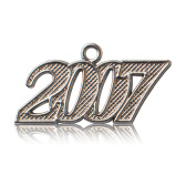 Year 2007 Silver Drop Date Signet for Graduation Tassel