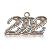 Year 2002 Silver Drop Date Signet for Graduation Tassel