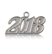 Year 2018 Silver Drop Date Signet for Graduation Tassel