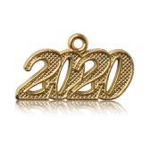 Year 2020 Gold Drop Date Signet for Graduation Tassel