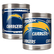 NFL Stainless Can Holder Set with Metallic Graphics