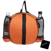Waterproof Basketball Bag, xhorizon TM SR Professional Basketball Football Soccer Volleyball Carrier Holder Sports Equipment Ball Bag with Adjustable Shoulder Strap