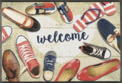 Wash + Dry 088134 Shoes Welcome Doormat, Acrylic, multicoloured, 50 x 75 x 0.7 cm