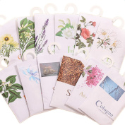 Wicemoon Hanging Wardrobe Sachet Fragrance Home Office Drawer Car Perfume Bag Mini Aroma Pouch 12 Pcs 12 Scent