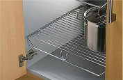 Wire Shelf For 500mm / 50cm Kitchen Base Unit, Heavy Duty Chromed Steel, 459mm Wide x 455mm Deep x 50mm High