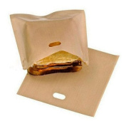 Generic 1Pcs Reusable Toaster Bags for Grilled Cheese Sandwiches Kitchen Cooking Non Stick Microwave Tools Heating Food Bags #05210999
