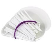 Demiawaking 50Pcs Salon Transparent Face Mask Haircut Face Eye Shield Protector Clear Face Cover