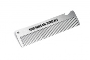 """Pechkeks Misfortune Cookies 41036 - Comb made of metal 145cm x 3,8cm built-in bottle opener """"Your Hairs Are Numbered"""""""