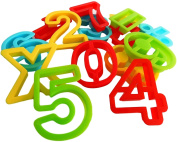 Numbers and Math Symbols Play Dough Cookie Cutter Shapes 15pcs 60mm