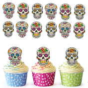 Sugar Skull Cupcake Toppers / Cake Decorations