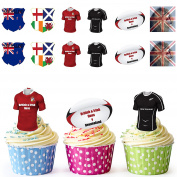 British And Irish Lions 2017 Rugby Cupcake Toppers / Cake Decorations